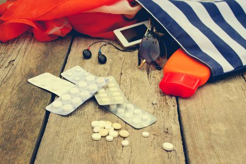 Medicamentos en el avión